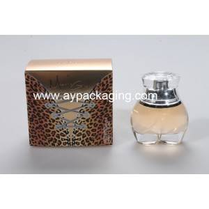 50m women buttock perfume bottle with silver shoulder and sulyn cap