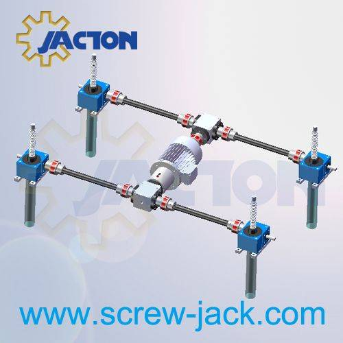 4 post screw lifting system,motorized worm gear screw lift table manufacturers and suppliers