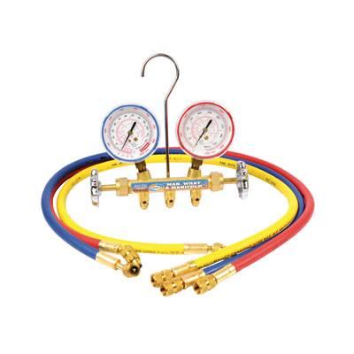 Brass manifold set with sight glass / Refrigeration manifold / Manifold Gauge Set