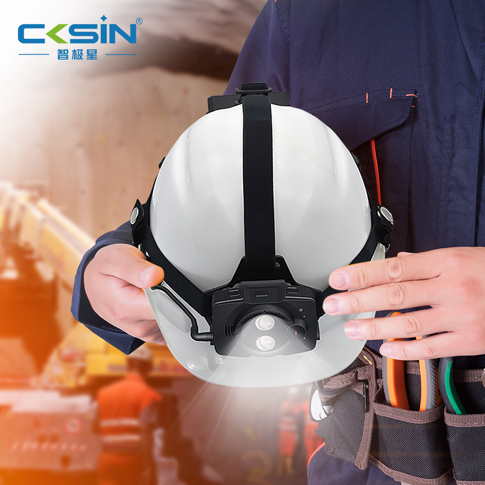 4G industrial safety helmet full HD 1080P camera and Mining fire engineering with GPS tracking