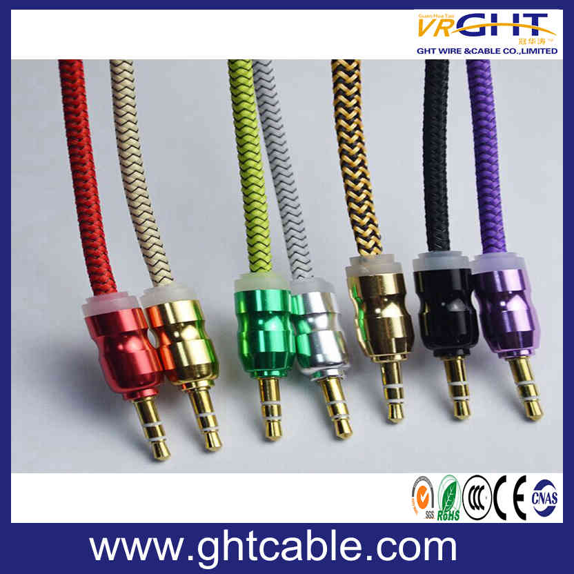 Colorful Braided Nylon 3.5mm Audio Cable