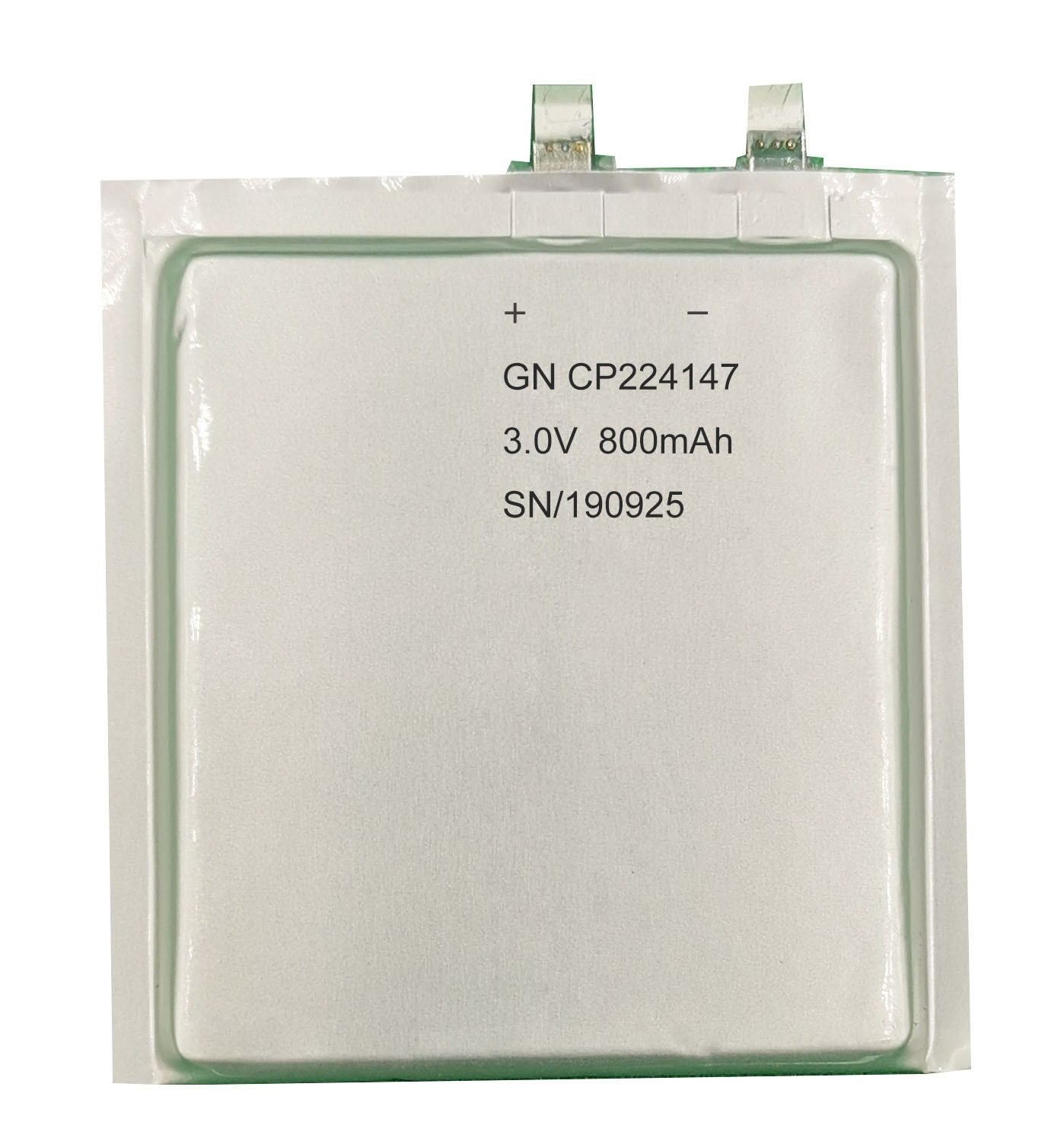 3V 800mAh CP224147 thin cell battery for personal RFID cards