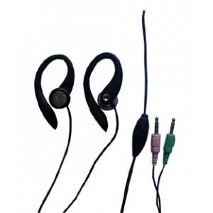 earphone with Microphone, ear-hook style