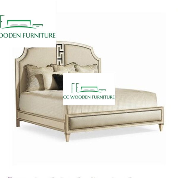 natural wood bed frame european style solid queen bed