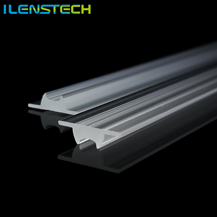 PMMA 60 degree clear led optical extruded lens for linear light