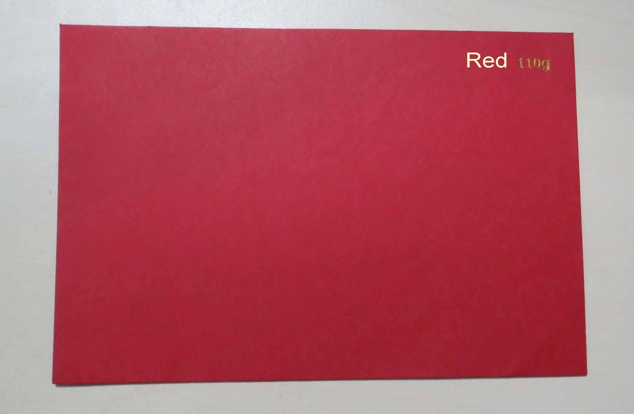 110g-280g red cardboard, red paperboard, colored paper