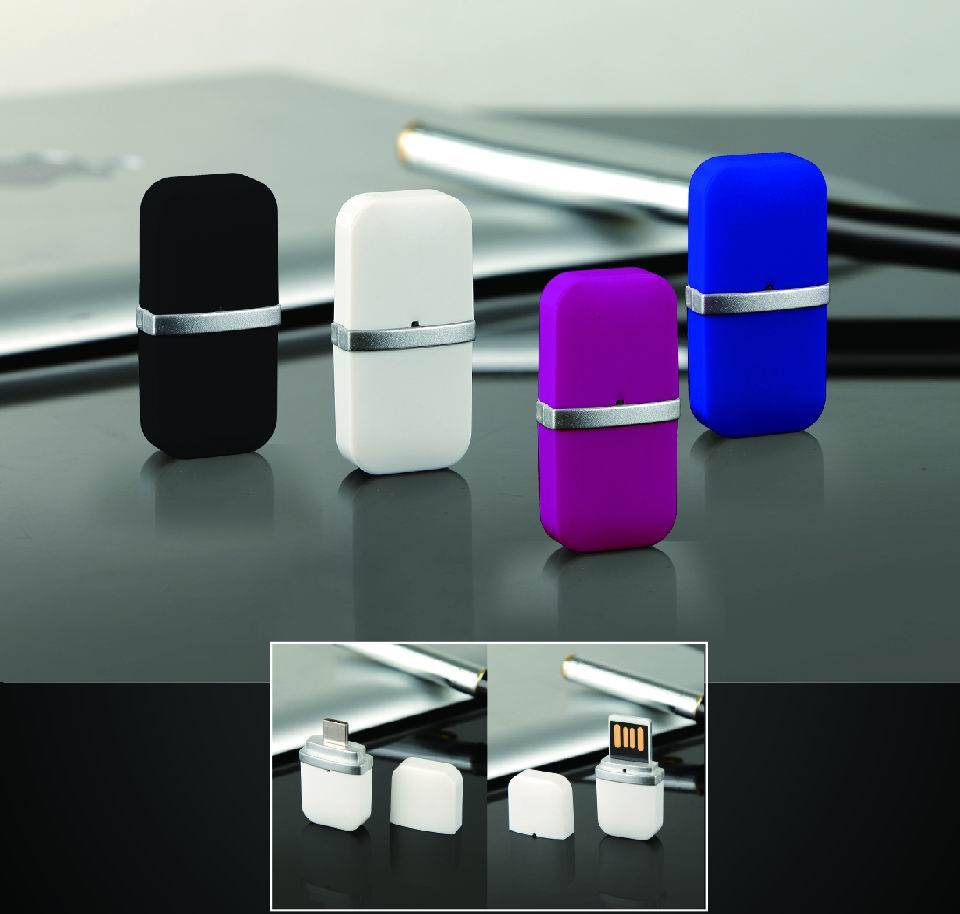 Small size OTG series COB USB flash drive with lid