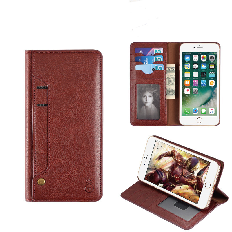 New design Cell Phone lether case leather wallet case for iphone 7