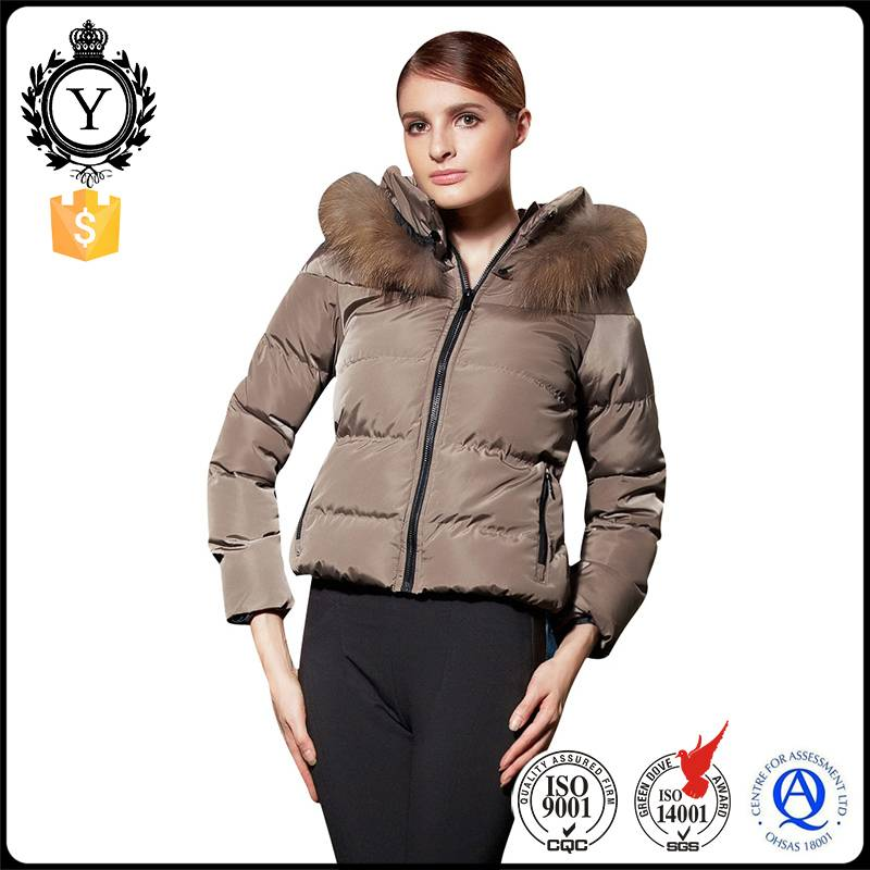 2016 COUTUDI bulk wholesale clothing softshell down bomber luxury women winter fur jacket