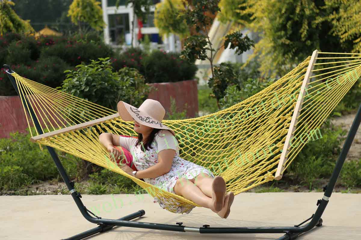 Cotton Rope Hammock.