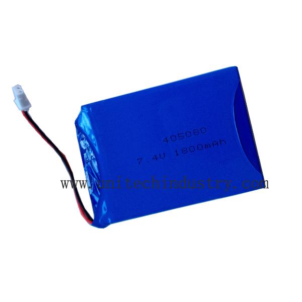405080 2S 7.4V 1800mAh Rechargeable custom lipo battery pack