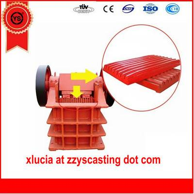 Mn13Cr2 jaw crusher fixed jaw plate made in China