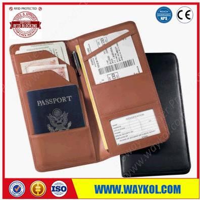 RFID blocking passport wallet