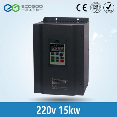 15KW 20HP 400HZ VFD Inverter Frequency converter single phase 220v input 3phase 380v output 30A for