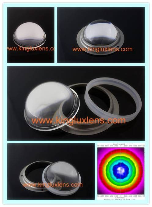 78mm 90 degree led lenses for led flood lights