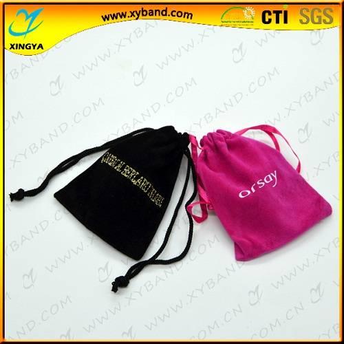 Custom drawstring velvet pouch bag