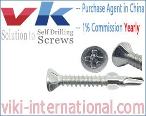 Countersunk Head / Flat Head Self Drilling Screws with Nibs & Wings