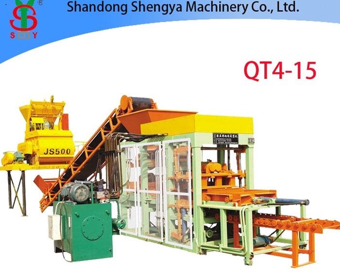 QT4-15 Automatic hydraulic cement brick making machine, block production plant