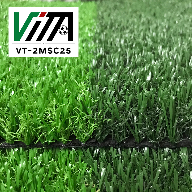 Outdoor synthetic grass non infill artificial turf for sale VT-2MSC25