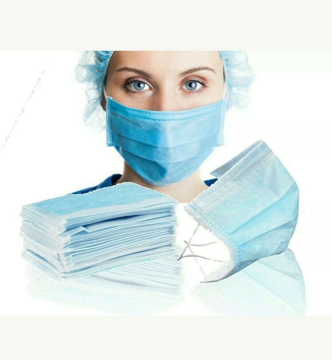 Disposable Medical 3 ply Non Woven Mask Surgical Disposable Face Mask