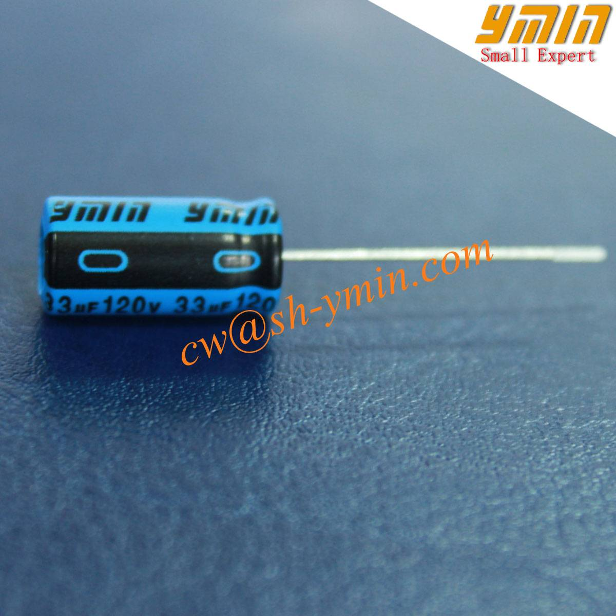 130C 120V 33uF Capacitor Radial Electrolytic Capacitor for Solar LED Lighting and General Purpose