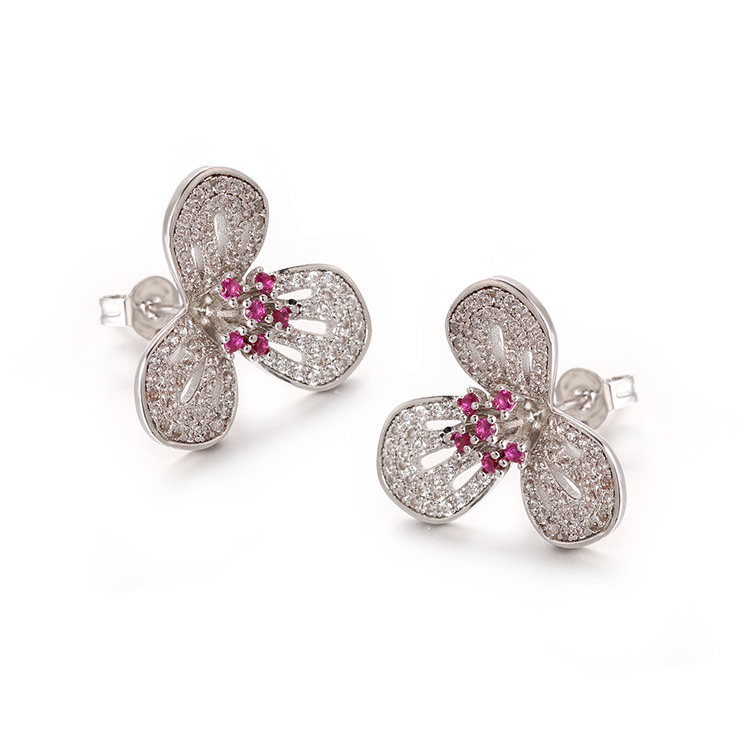 CHINGYING 925 Sliver fashion jewelry earrings for ladies supplier