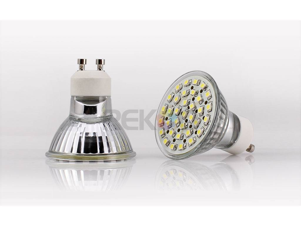GU10 Glass 34-3528SMD led spot light
