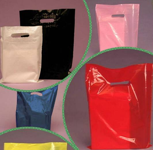 2016 LDPE Customized made soft loop handle plastic bags