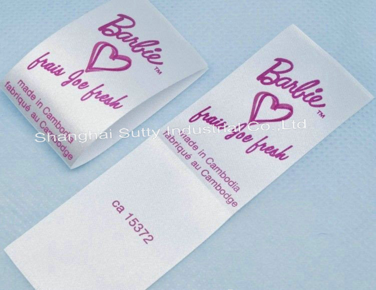 custom printing 100% cotton washing label