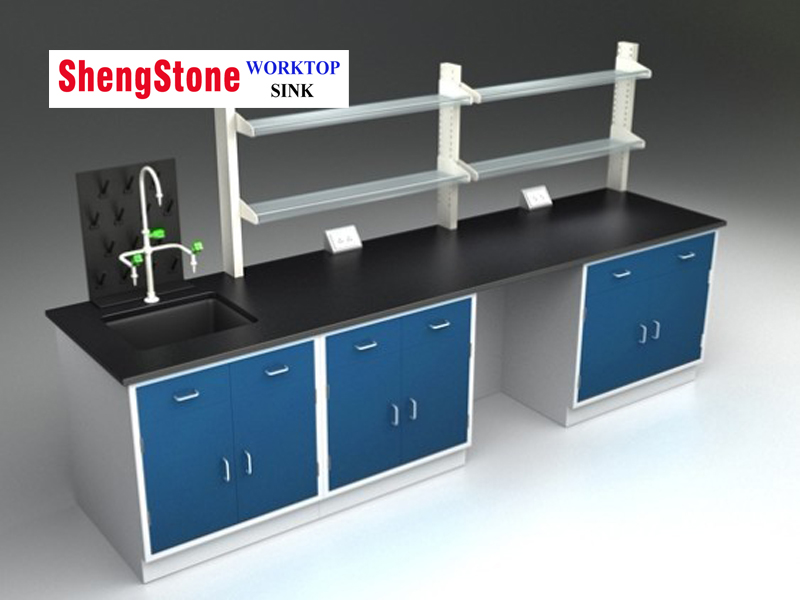 Laboratory all wood structure workbench-Epoxy resin/Phenolic bench worktop