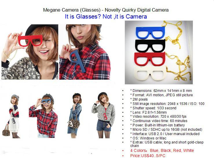 Fuuvi Megane (Glasses) - Japanese Novelty Quirky Digital Camera