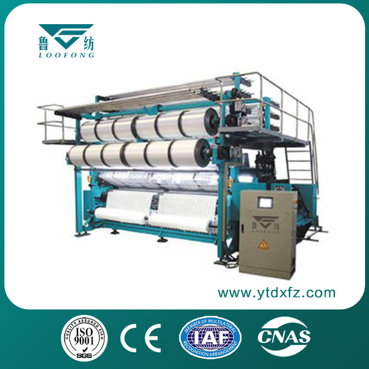 Lace jacquard warp knitting machine