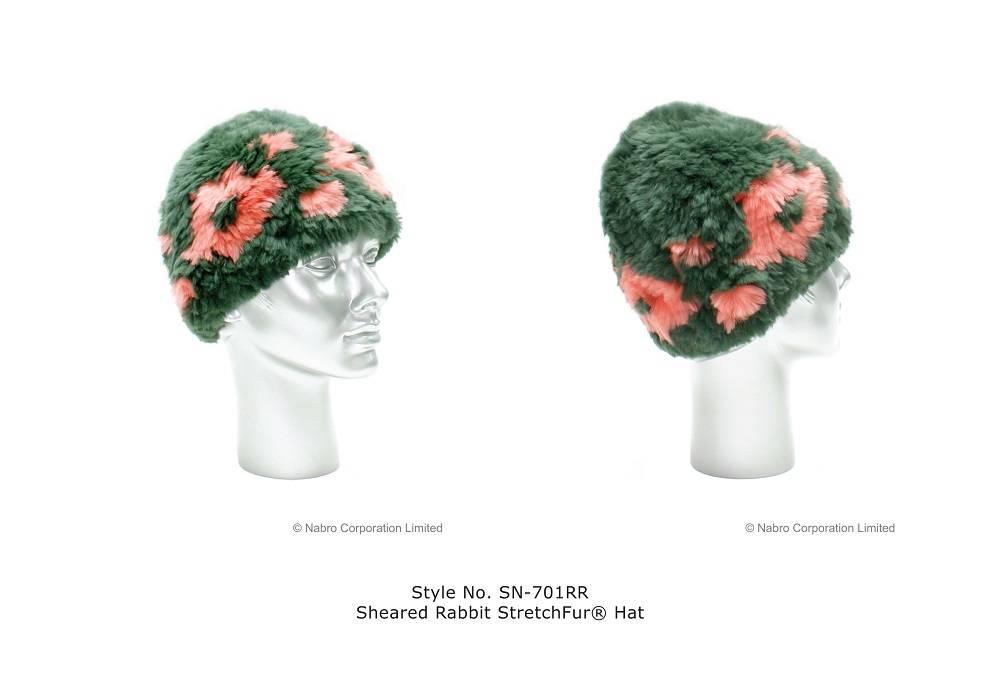 Sheared Rabbit StretchFur Hat (SN-701RR)