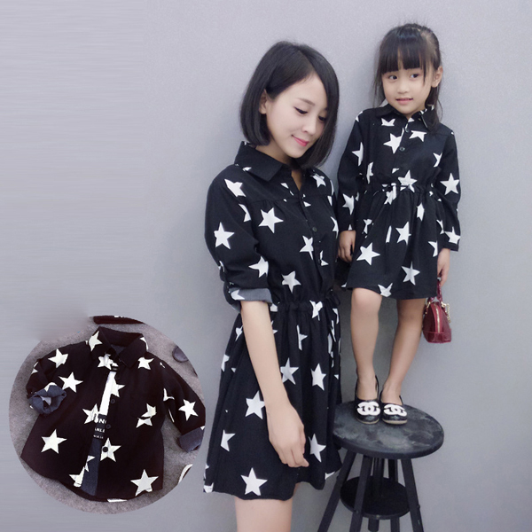Wholesale mommy and me maxi dress 2017 matching family clothes