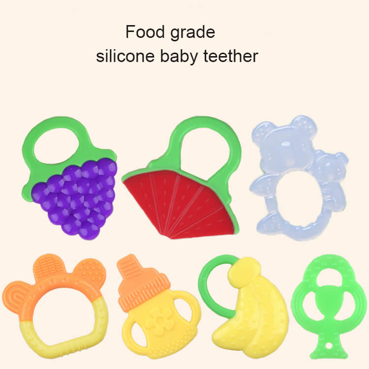 Fruit Shape Silicone Baby Chewable Teether Manufacturer
