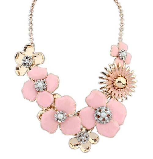 New arrival heart crystal fashion statement necklace
