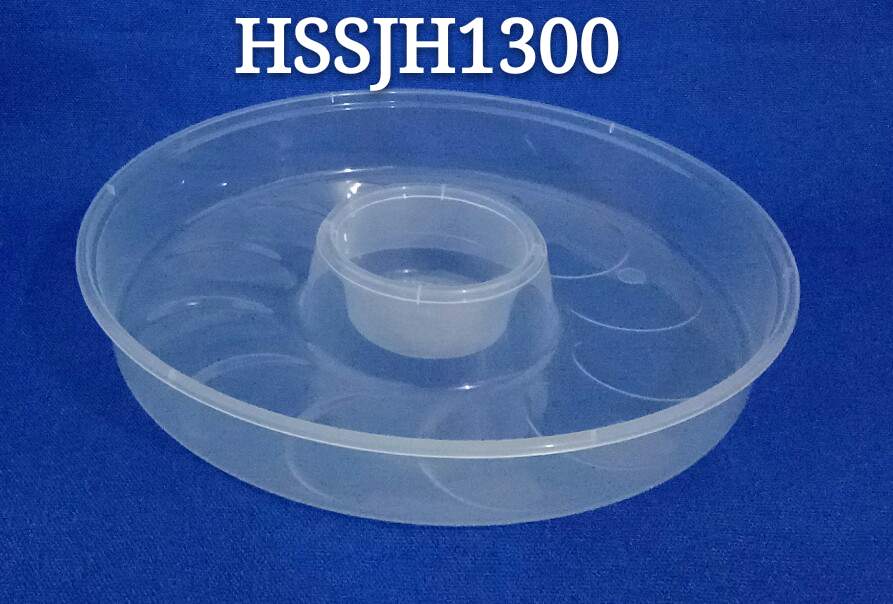 Round Dumpling Use Airtight Disposable PP Microwaveable Food Storage Container with Lid