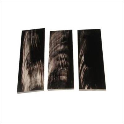 buffalo horn plate black with white striks