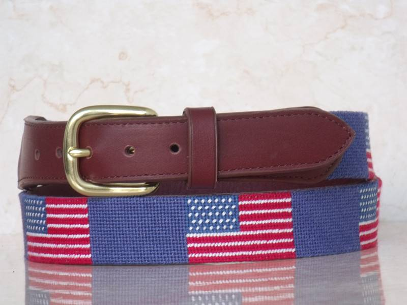 Factory Price Needlepoint Leather Belts for Men
