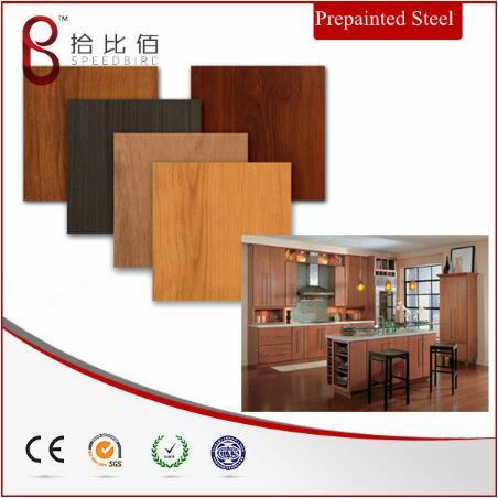 wood grain steel sheet for Kitchen Cabinet