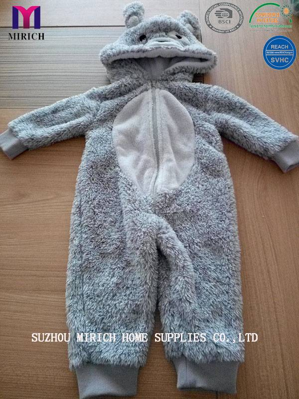 Printed Micro Mink Baby Hooded Bathrobe Kids Bathrobe