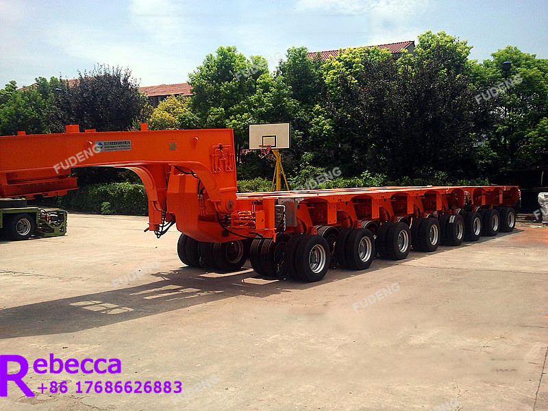 Hydraulic steering heavy haul gooseneck lowboy trailer multi axle modular low bed trailer