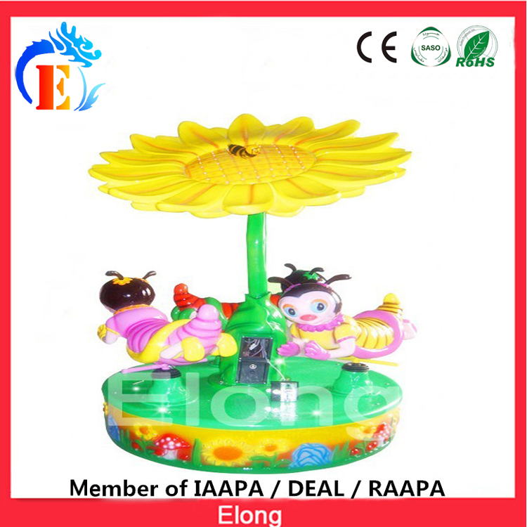 Elong carousel ride 3 seats carousel Honey bee carousel