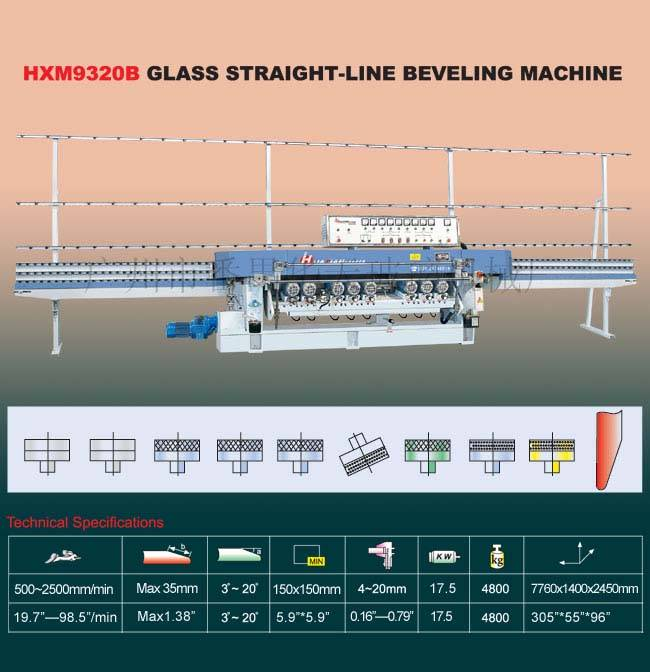 Glass Machinery/HXM9320B Glass Straight-Line Beveling Machine
