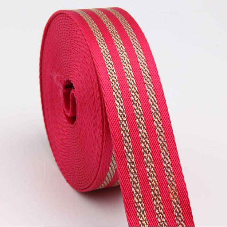 High tenacity PP webbing nylon webbing embroidery bullion tape for sale