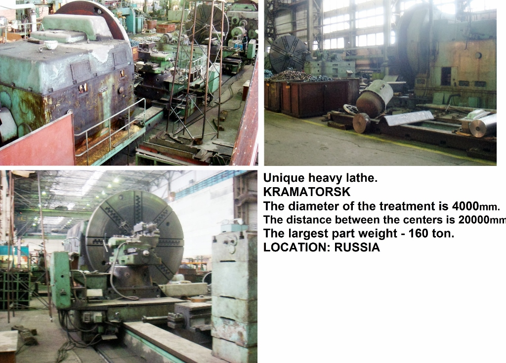 Unique heavy lathe model 1A681