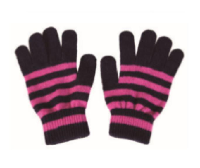 Various STRIPE Pattern Premium Lamb Wool Gloves 5 Conductive Fingertips Various colors