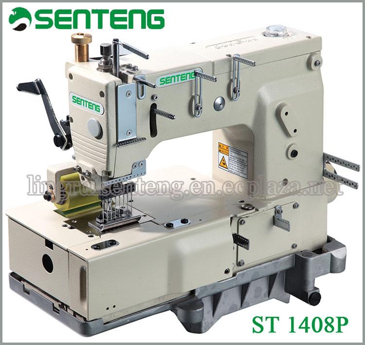ST 1408P 8-NEEDLE FLAT-BED CHAIN STITCH SEWING MACHINE POPULAR MARKET LOGO SEWING MACHINE PRICE