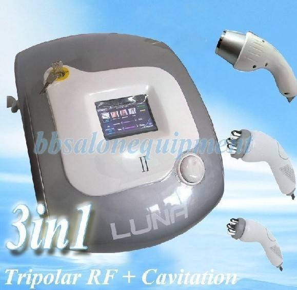 3in1 Tripolar Radio Frequency (Face Probe + Body Probe) + Ultrasonic Cavitation Non-Surgical Liposuc