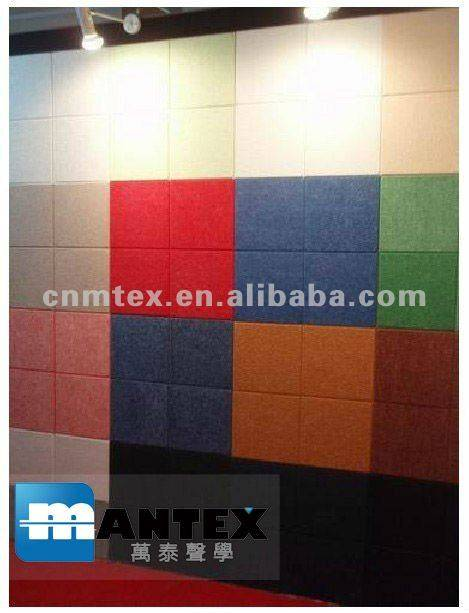 100% Polyester Fiber Acoustic Panels Wall Acoustic Panels Sound Insulation Boards